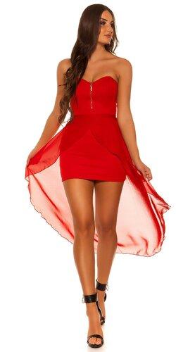 Dámske mini šaty s vlečkou