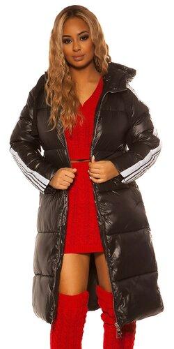 Maxi dlhá zimná bunda | Čierna