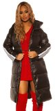 Maxi dlhá zimná bunda Čierna