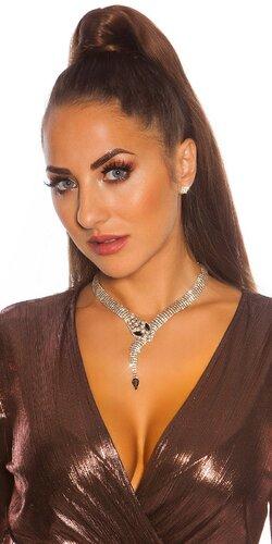 Hadí náhrdelník s náušnicami | Zlatá