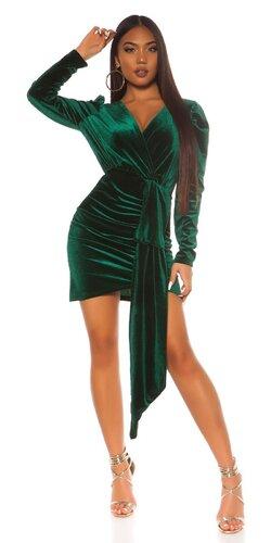 Semišové party šaty | Zelená