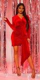 Semišové party šaty Červená