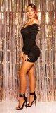 Mini šaty s čiernym tylom Čierna