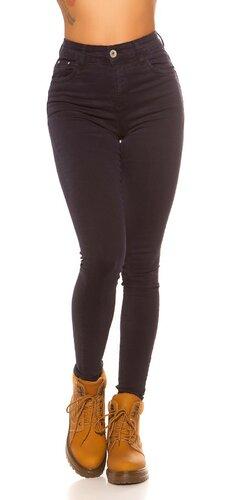 Tmavé nohavice s vysokým pásom | Tmavomodrá