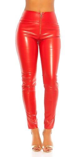 Kožené nohavice ,,sexy zadok,, | Červená