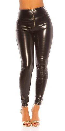 Kožené nohavice ,,sexy zadok,, | Čierna