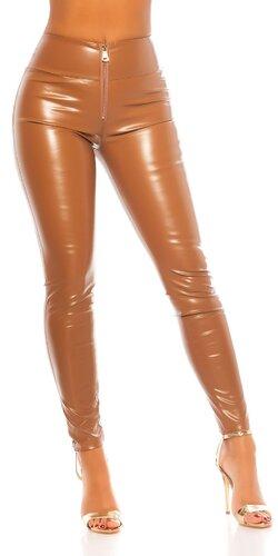 Kožené nohavice ,,sexy zadok,, Hnedá