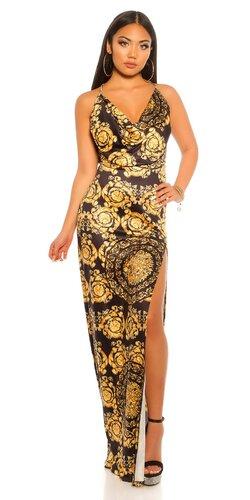 Orientálne maxi šaty na ramienkach