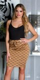 Vysoká sukňa s potlačou Cappuccino
