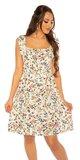 Viskózové jarné šaty Biela