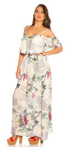 Letné viskózové maxi šaty s kvetinami