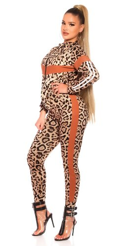Fitness leopardia súprava