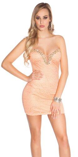 Mini šaty s V výstrihom Lososová