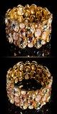 Elegantný dámsky kamienkový náramok Zlatá