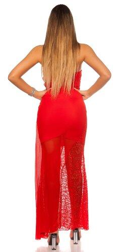 Dámske vyzývavé plesové šaty Červená