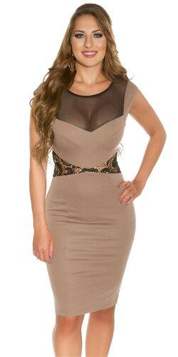 Dámske šaty s čipkovaným pásom