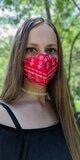 Tvarované rúško - Čičmany červené