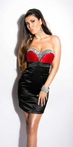 Štýlové koktejlové šaty Červená