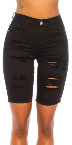 Trendy rozparkané capri džínsy