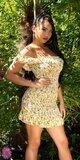 Letné mini šaty FLOWER s odhalenými ramenami Žltá