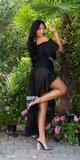 GODDESS Look maxi šaty Čierna
