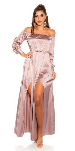 Saténové latina maxi šaty