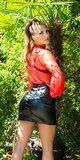 Sexi leather look mini sukňa Čierna