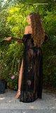 Čipkovaný kardigán s opaskom Čierna