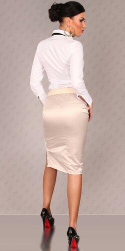 Dámska Štýlová sukňa s opaskom Béžová