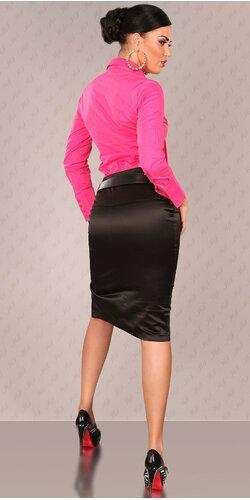 Dámska Štýlová sukňa s opaskom Čierna