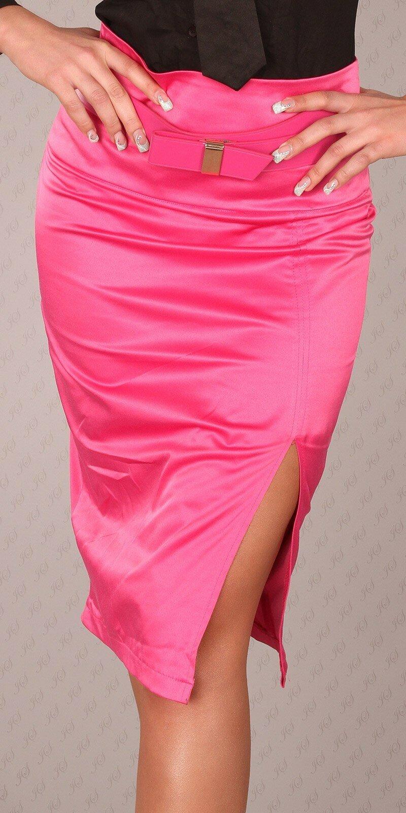 Dámska Štýlová sukňa s opaskom #Veľkosť 40 (L) Farba Ružová