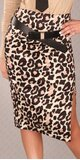 Dámska štýlová sukňa s opaskom Leopard