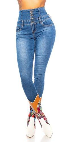 Džínsy so super vysokým pásom