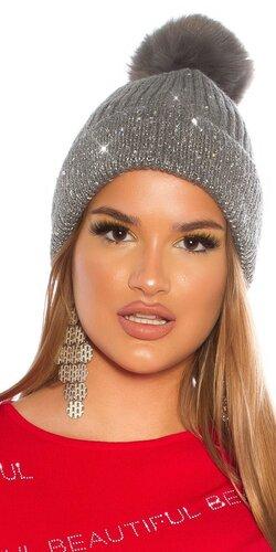 Zimná čiapka s leskom