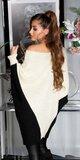 Pletený netopierý sveter Béžová