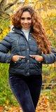 Dámska zimná bunda krátky strih Tmavomodrá