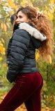 Dámska zimná bunda krátky strih Čierna