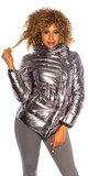 Metalická zimná bunda Šedá