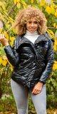 Metalická zimná bunda Čierna