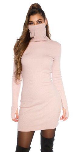 Bavlnené šaty s integrovaným rúškom