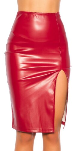 Dlhá kožená pencil sukňa