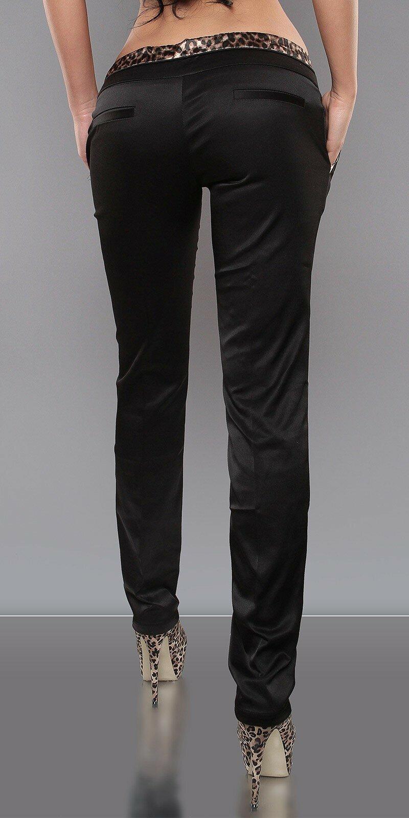 Štýlové spoločenské nohavice s leopardími vzormi