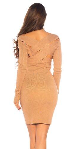 Pletené šaty s twist efektom