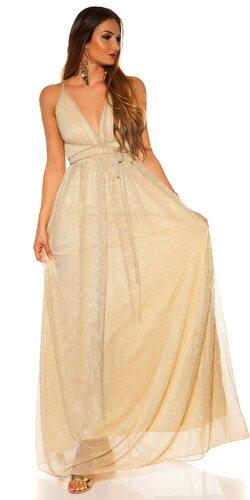 Ramienkové dlhé šaty s otvoreným dekoltom