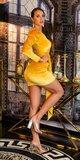 Semišové party šaty Zlatá