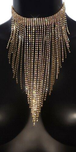 Veľký kamienkový náhrdelník Zlatá