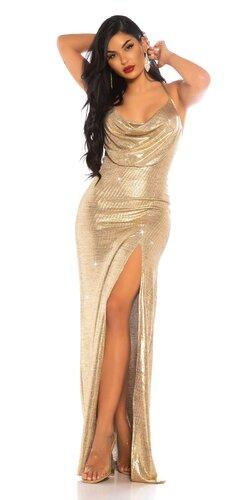 Zlaté večerné šaty
