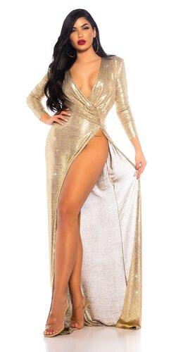 Zlaté otvorené šaty