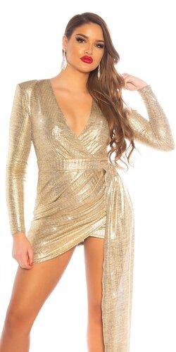 Zlaté šaty so šerpou