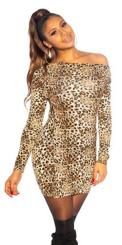 Leopardie pletené šaty